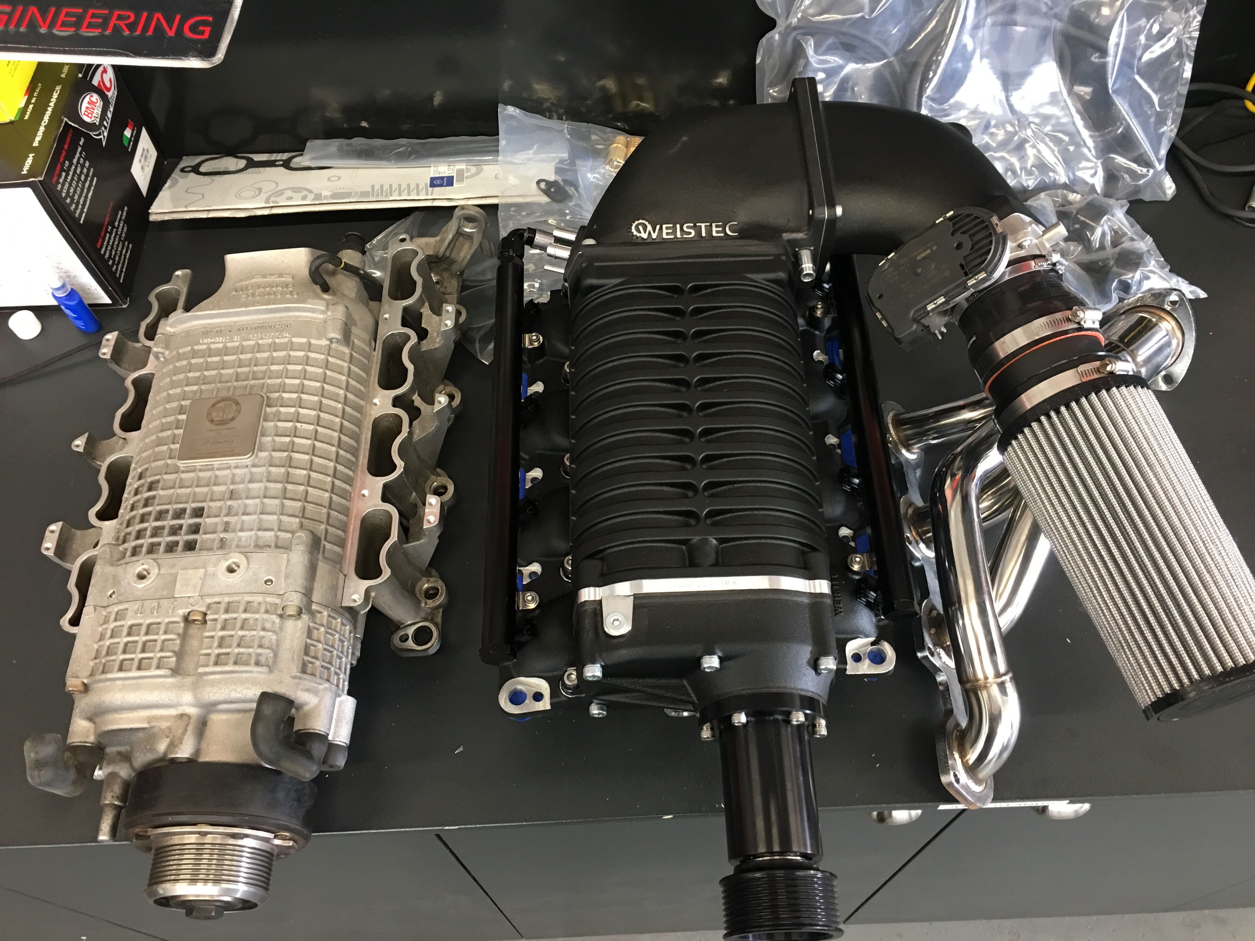 Mercedes SL 55 AMG, supercharger upgrade, stage 3, Weistec New