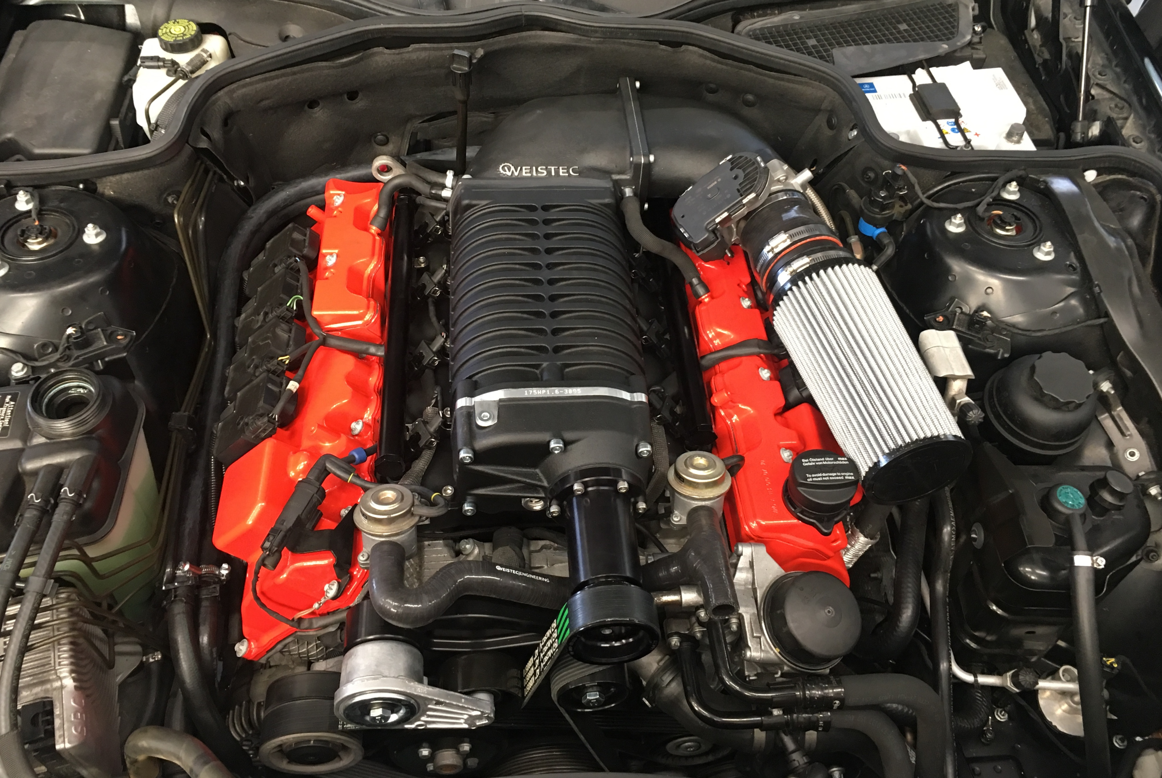Mercedes SL 55 AMG, supercharger upgrade, stage 3, Weistec